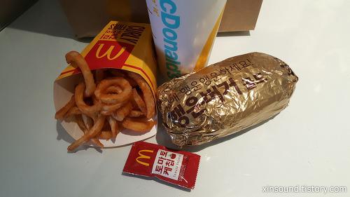 맥도날드 행운버거 골드 런치세트 신메뉴 맛보기!