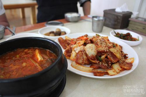 안동맛집 전원기사식당 불백 대신 두루치기
