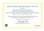 JMST Award for Most Cited Paper of Year 2013 (2014.12.31)