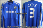 09/10 Chelsea Home L/S No.3 A.Cole Player Issue Shirt (SOLD OUT)
