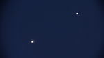 Venus and Jupiter in the night sky (Movie)