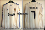 10/11 Real Madrid Home L/S No.7 Ronaldo Copa Final Match Issued Shirt (Vs.Barca 20 Apr 2011) (SOLD OUT)