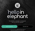 코끼리에게 헬로우 - 코끼리 언어 번역기 웹사이트