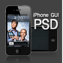 아이폰 GUI PSD (iPhone Graphical User Interface PSD)