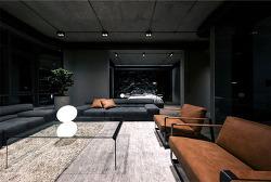 블랙컬러의 시크함이 돋보이는 아파트 인테리어