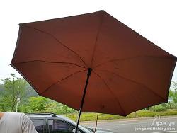 레그넷 거꾸로 자동우산 오토유!! 강한 비바람에 쉽게 뒤집혀지지 않는 이유는?