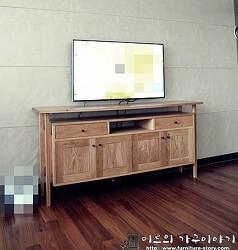 화이트오크로 제작된 콘솔 -미르의 가구이야기, 거실장, 콘솔-