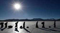티베트 해발 약 5천미터에 사는 주민들의 겨울 나기