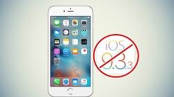 iOS 9.3.3 - iOS 9.3.2 버전으로 다운그레이드 불가능, 당분간 탈옥도 불가능함