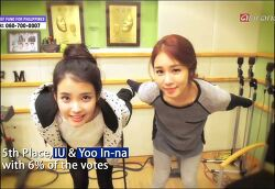 131120 arirang SHOWBIZKOREA-STAR RANKNG-celebrity friends-IU&Yoo In-na