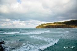 에메랄드빛 바다가 아름다운 제주 함덕 서우봉해변
