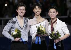 남자 프리 - 하뉴 우승, 챈 은메달, 데니스 텐 동메달