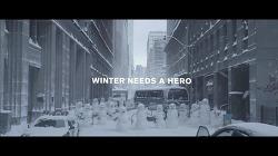 """닛산 로그 자동차 광고 - '윈터 워리어'편: """"겨울은 영웅을 필요로 한다"""" [한글자막]"""