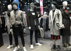 일본 의류매장의 그레이 패션스타일링