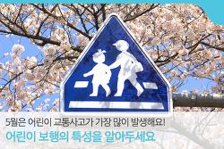5월은 어린이 교통사고가 가장 많이 발생해요!-어린이 보행의 특성을 알아두세요!