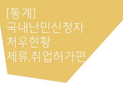[통계] 국내 난민신청자 처우 현황-체류, 취업허가 편 (2017.12.31기준)