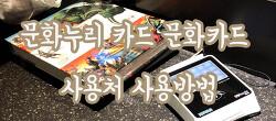문화누리 카드 문화카드 사용처 사용방법 잔액확인 기초생활수급자 및 차상위계층을 위한 카드?