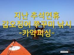 지난 추석연휴 갑오징어 쭈꾸미 낚시 - 카약피싱(1)