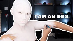 디트로이트 : 비컴 휴먼 안드로이드를 재현한 바디 페인팅 영상.