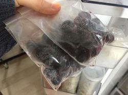 살림노하우  남은 과일보관 냉동실 정리