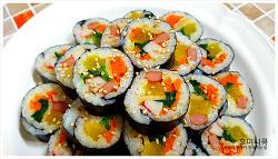 나들이도시락으로 좋은 야채김밥 레시피