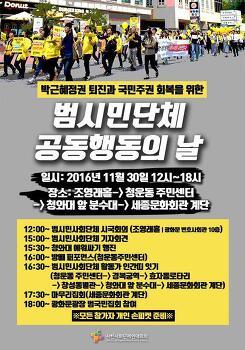 박근혜정권 퇴진과 국민주권 회복을 위한 전국 시민단체 공동행동의 날