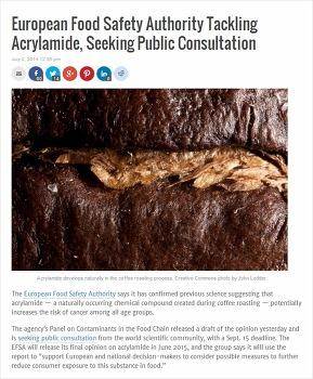 커피와 건강 : 아크릴아미드(Acrylamide) 논란
