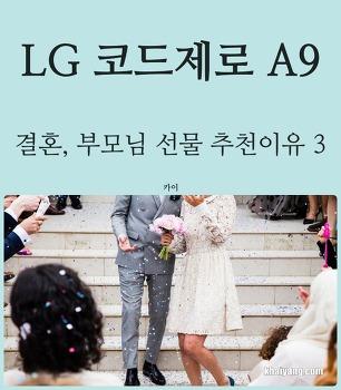 무선청소기 LG 코드제로 A9, 결혼 부모님 선물 추천 이유 3가지