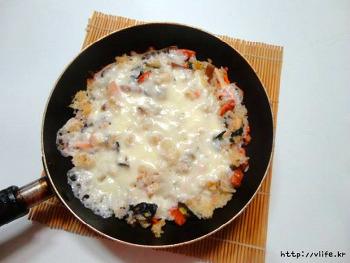 남은 김밥 맛있게 먹는법, 김밥 피자