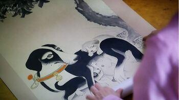 [사임당 빛의 일기] , 의성군이 그린 강아지 그림?