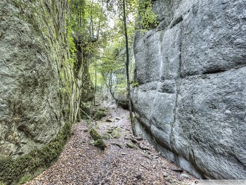 Walking Between Rock Walls Catalonia wallpaper