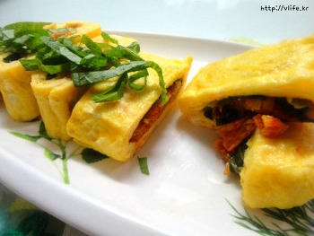 김치 달걀말이, 달걀 비린내 없는 개운한 계란말이