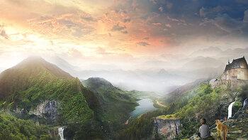 포토샵 판타지 합성 강좌 마운틴 (Photoshop Manipulation Tutorial Mountain)