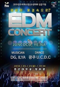광주세계수영선수권대회 성공 기원 EDM 콘서트 (18.5.25 조선대학교)