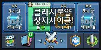 클래시로얄 상자사이클 보는법(feat.1렙덱)