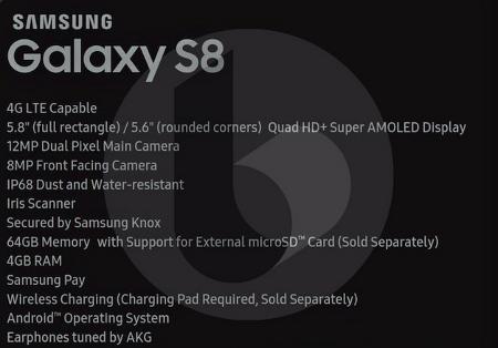 갤럭시 S8, S8 Plus 스펙 알아보기.