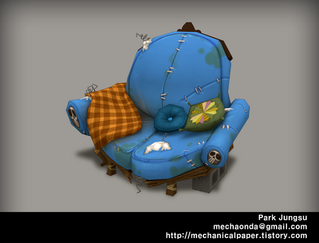 [3D]와일드스타 주점 2_손맵/Wildstar 2_Hand painted texture_2014