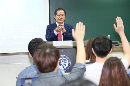 홍준표 대표, 연세대 사회학과 학생들과 진솔한 대담 펼쳐.....