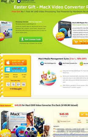 MacX 비디오 컨버터 프로(MacX Video Converter Pro) 무료 프로모션(Mac 버전)