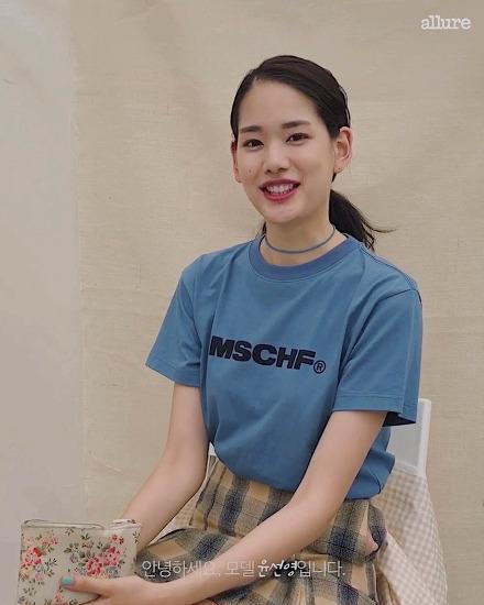 #얼루어_언니들의파우치 모델 윤선영