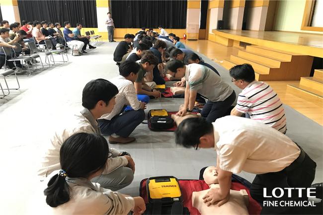 롯데정밀화학, 안전의 달 운영(7월)