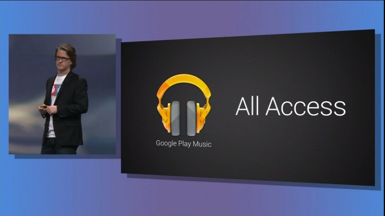 "Google Play Music ""All Access""와 Google Play Music 안드로이드 앱"
