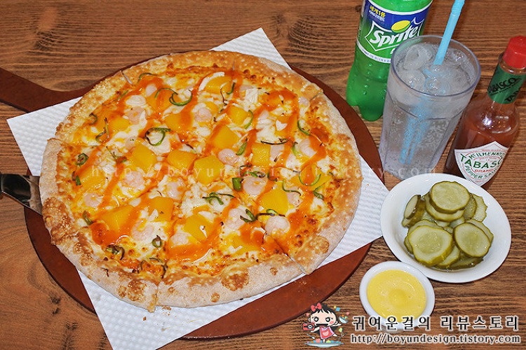 [광장동 맛집/광나루역 맛집]상큼한 여름메뉴! 파파존스피자 망고 슈림프