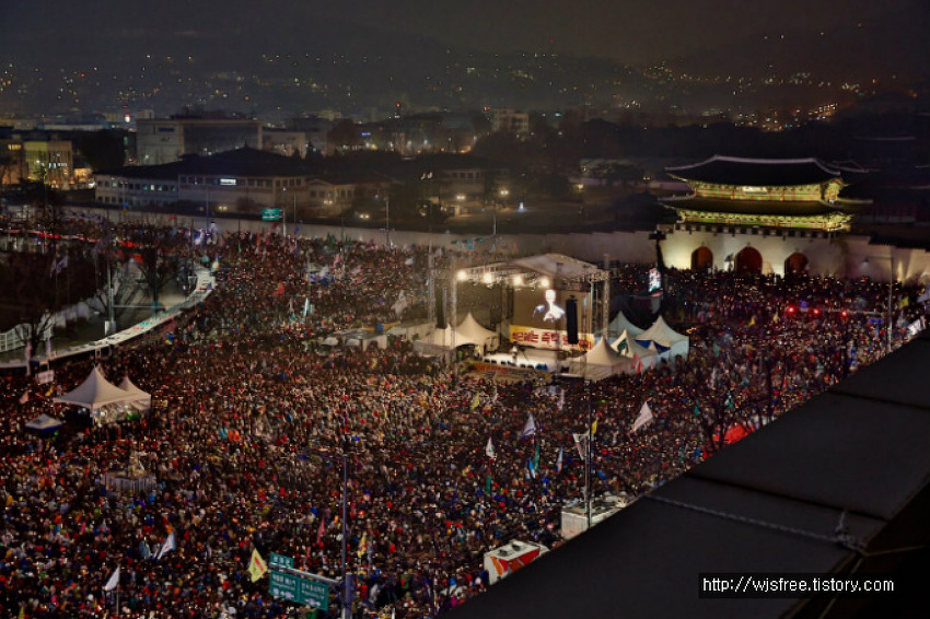 Nearly 2 Million participants Rallies Nationwide including Seoul and 50 cities in South Korea.