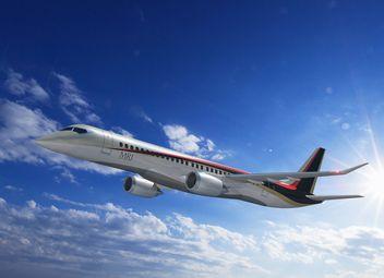미쯔비시가 개발 중인 MRJ 항공기