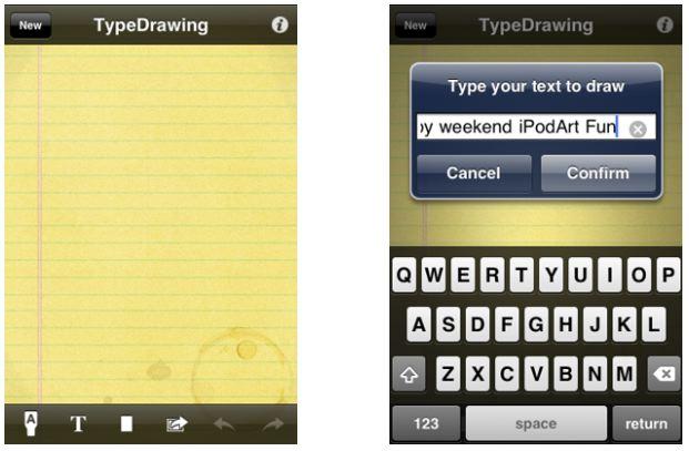 아이팟터치 아이폰 App Type Drawing 타입 드로잉
