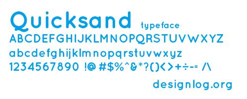 디자인 폰트 - Quicksand