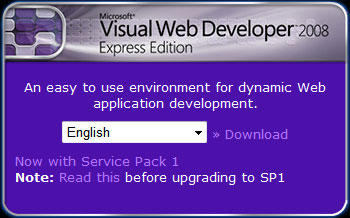 Visual Web Developer Express Edition 다운로드