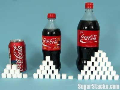 콜라의 설탕 함유량을 각설탕 개수로 시각화