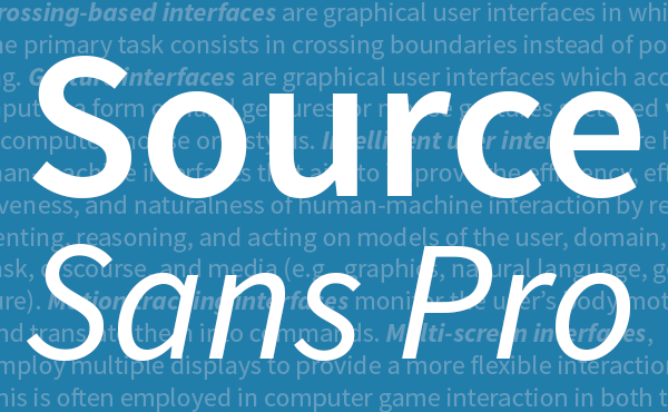 어도비, 첫 오픈 소스 글꼴 발표